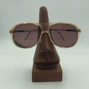 Vintage Rivers Edge Frame Brown Aviator Sunglasses